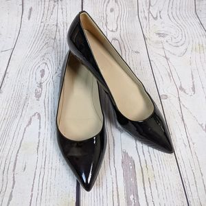 J. Crew Patent Leather Black Pointed Toe Flats 7.5